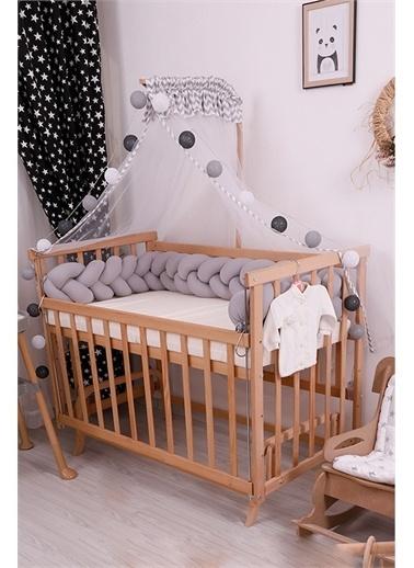 Bebe Konfor Pembe Örgü İle Doğal Karyola Bebek Beşi̇ği̇ Gri